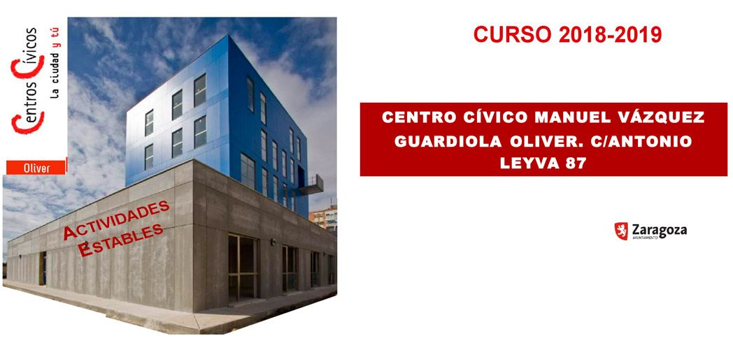 Actividades estables del Centro Cívico Oliver en septiembre de 2018