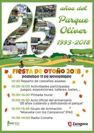 Fiesta de Otoño 2018: 25 aniversario del Parque de Oliver