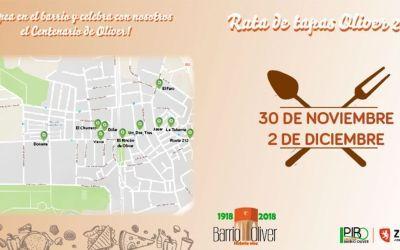 I Ruta de Tapas Centenario Oliver 2018