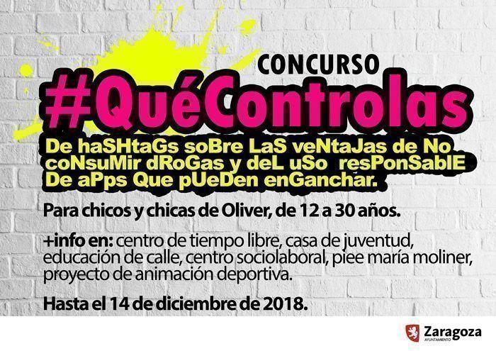 Concurso de hashtags #QuéControlas