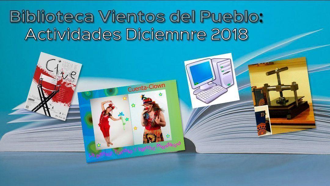 Biblioteca vientos del pueblo: Actividades de diciembre 2018