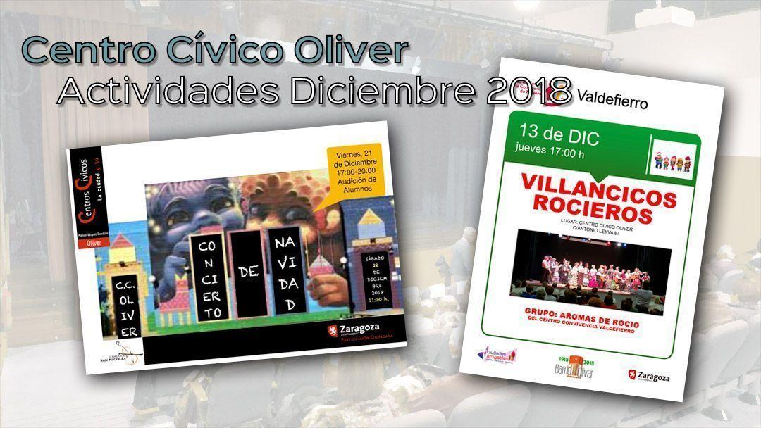 Centro Cívico Oliver: Actividades diciembre 2018