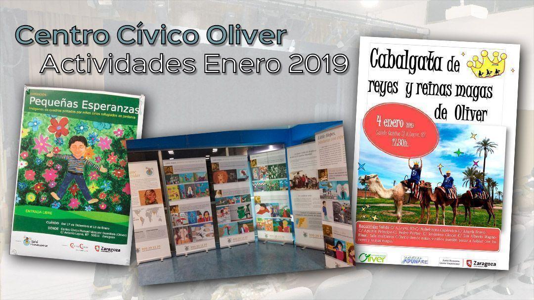Centro Cívico Oliver: Actividades Enero 2019