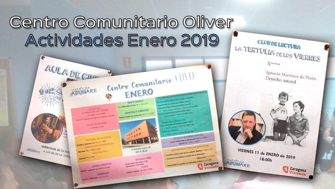 Centro Comunitario Oliver: Actividades enero 2019