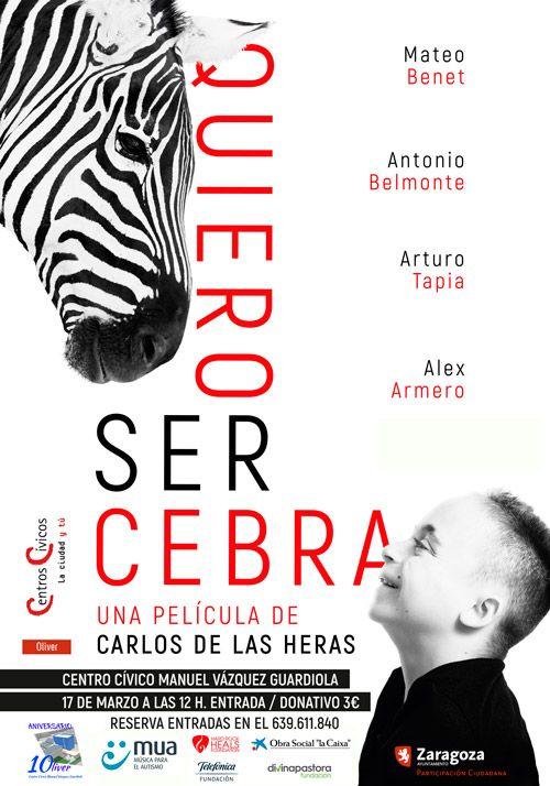 """Película """"Quiero ser Cebra"""" - Centro Cívico Oliver"""