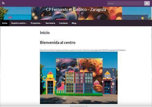 Web CEIP Fernando el Católico Oliver
