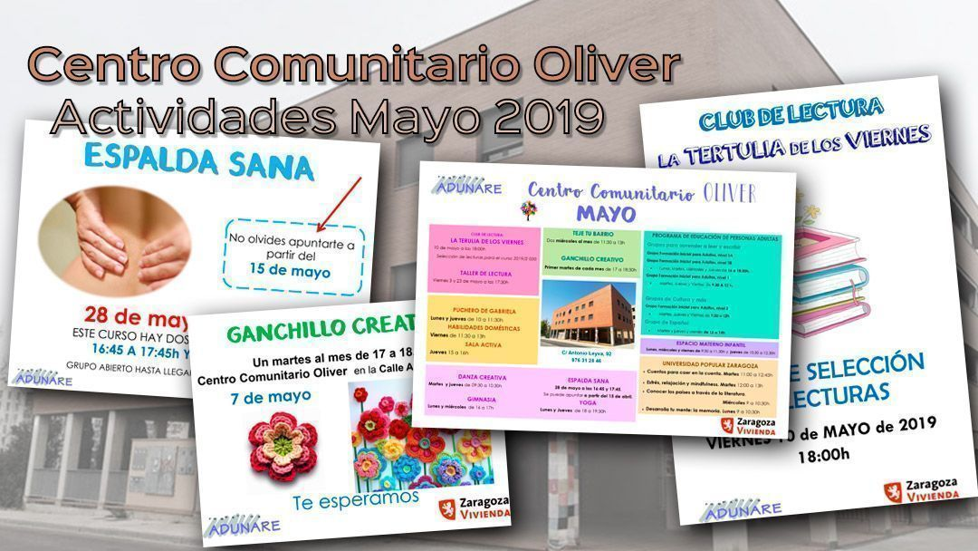 Centro Comunitario Oliver: Actividades Mayo 2019