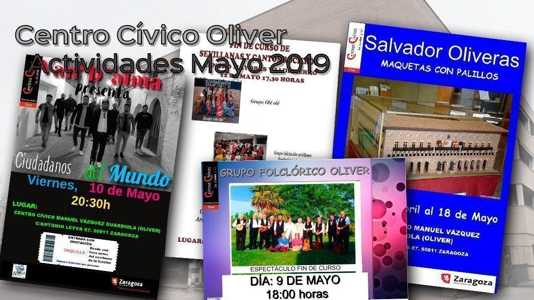 Centro Cívico Oliver: Actividades Mayo 2019