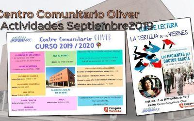 Centro Comunitario Oliver – Actividades septiembre 2019