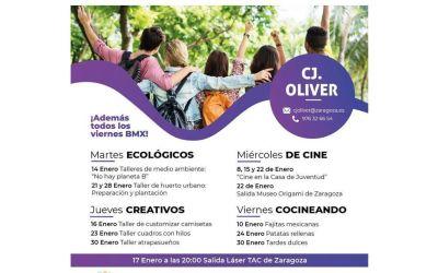 Casa de Juventud Oliver: actividades para enero de 2020