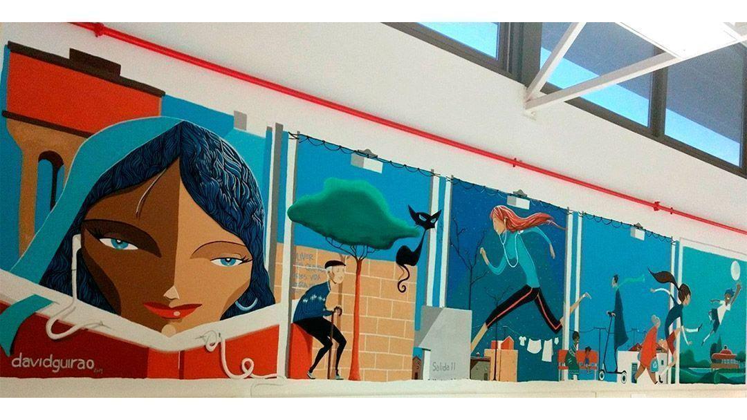 Inauguración del Mural de David Guirao en la Biblioteca «Vientos del Pueblo»