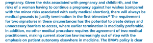 Exrtract from The Law and Ethics of Abortion, BMA November 2014