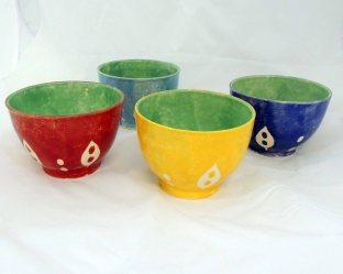 Bowl folha grande conjunto 4 peças