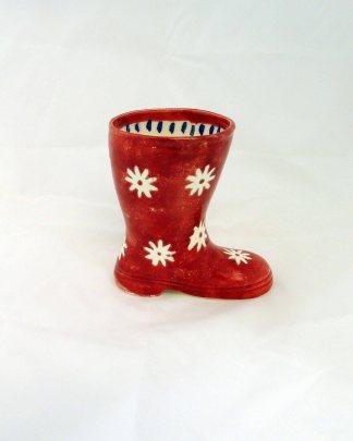 Vaso bota vermelho