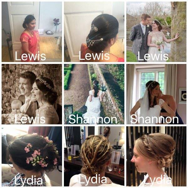 A selection of Wedding Hair Up Styles by our Team