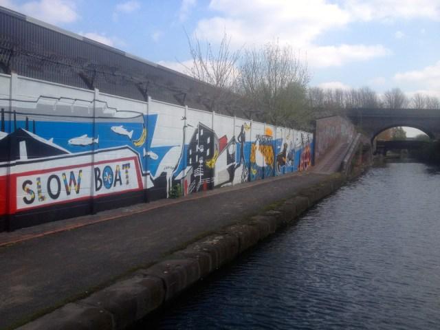 Colourful mural opposite The Bond