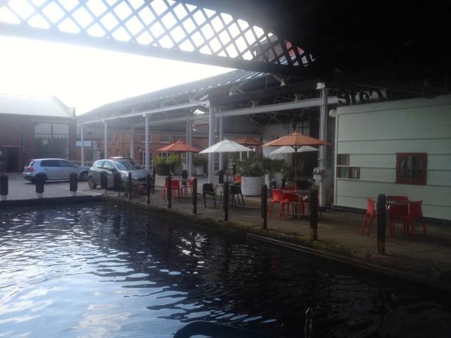 Our mooring spot at The Bond, Digbeth, Bimringham