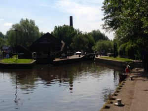 The lock at Etruria - my face painting stand was just to the left of the bottom gate