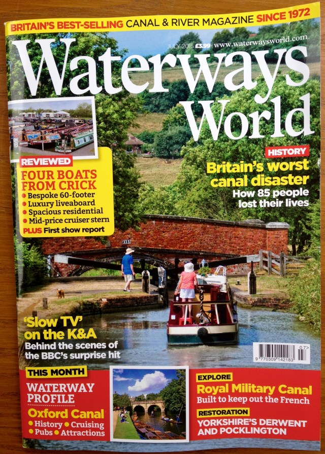 Waterways World front cover July 2015