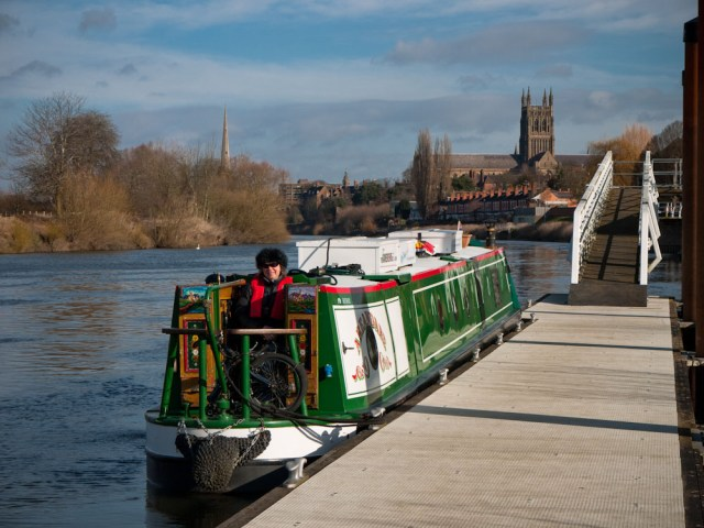 Moored on the River Severn at Worcester