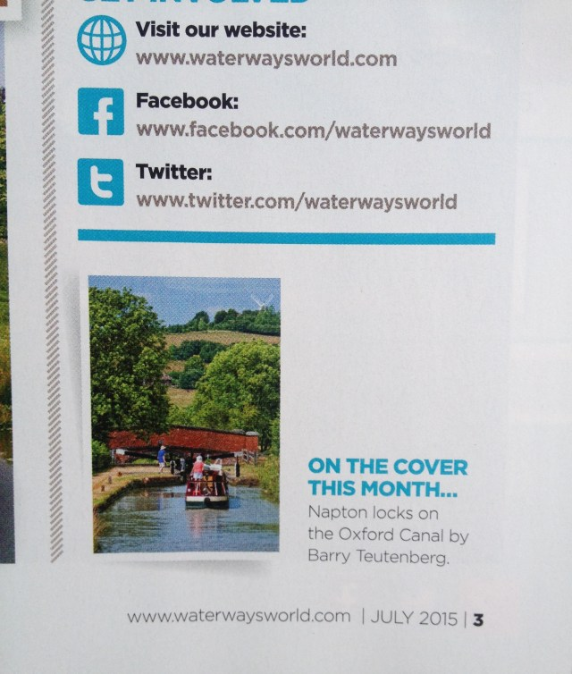 Front cover credits Waterways World July 2015