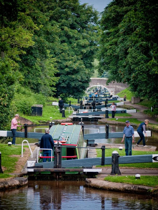 The Audlem locks are a great place for photography