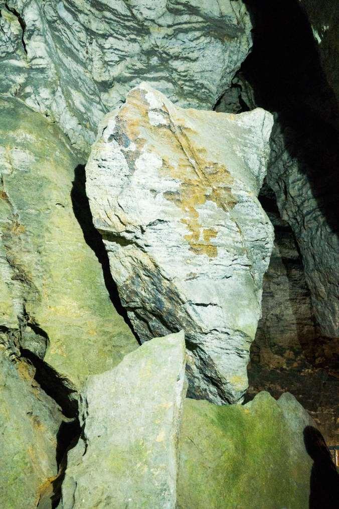 Blue John Cavern boulder