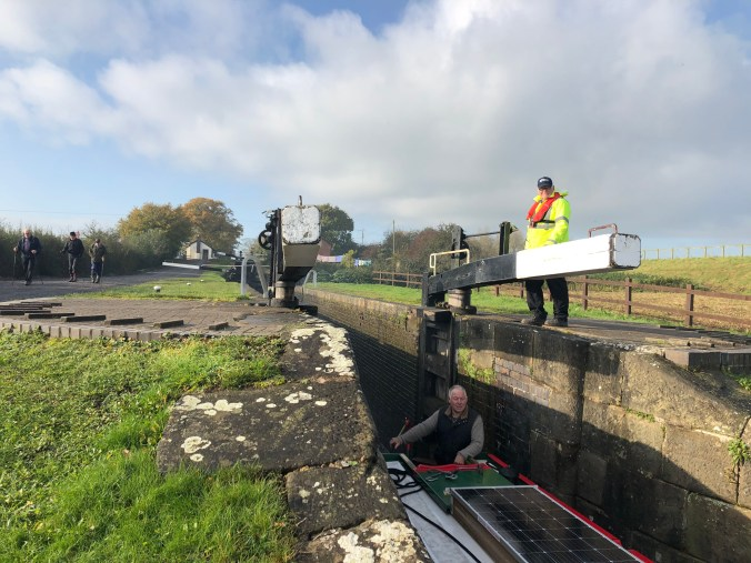 Frankton Locks on 4th November 2019 before they closed for the winter