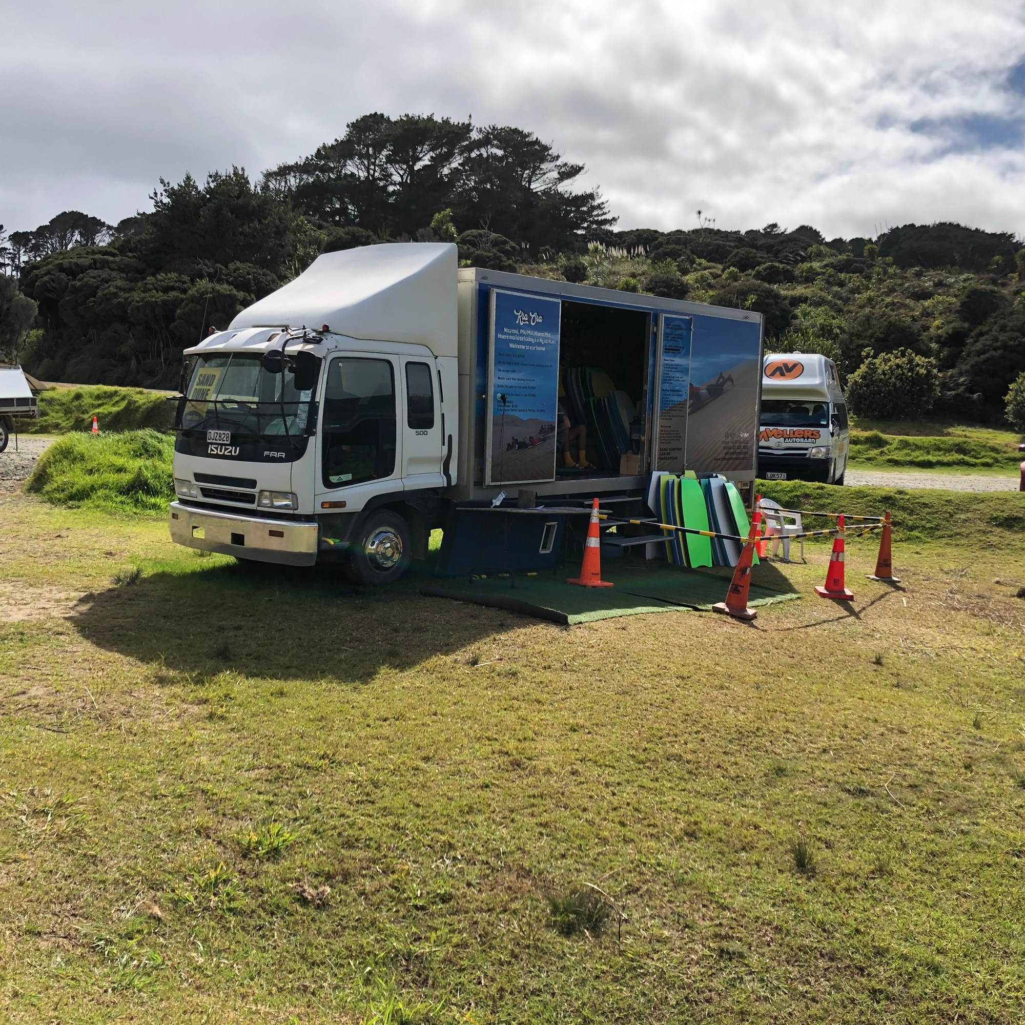 Board hire at the Giant Te Paki Sand Dunes Far North New Zealand October 2020