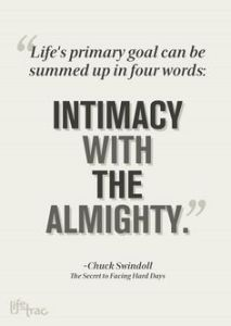 Intimacy with the Almighty