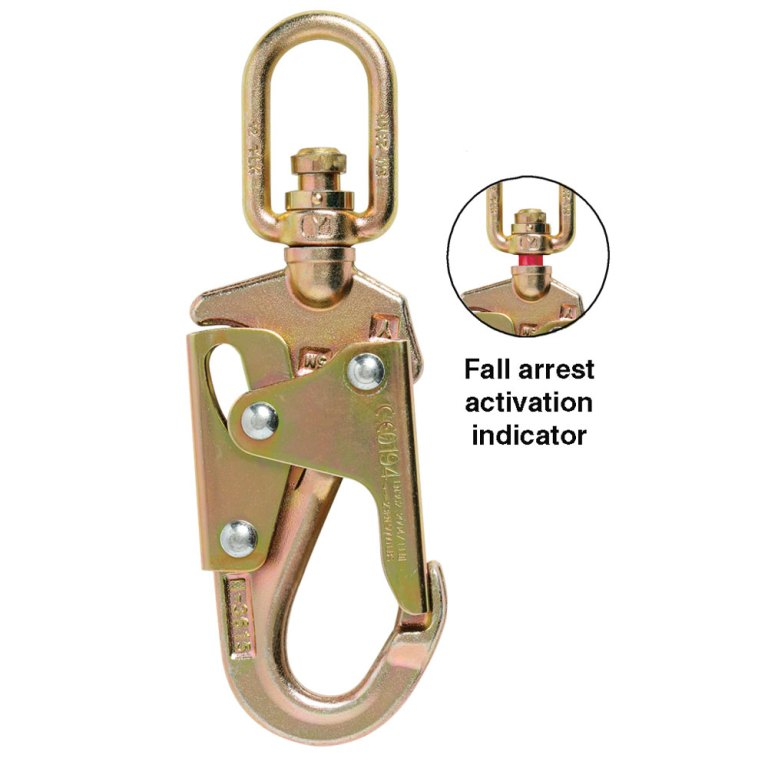 BYIH015 Double Action swivel safety hook with Overload