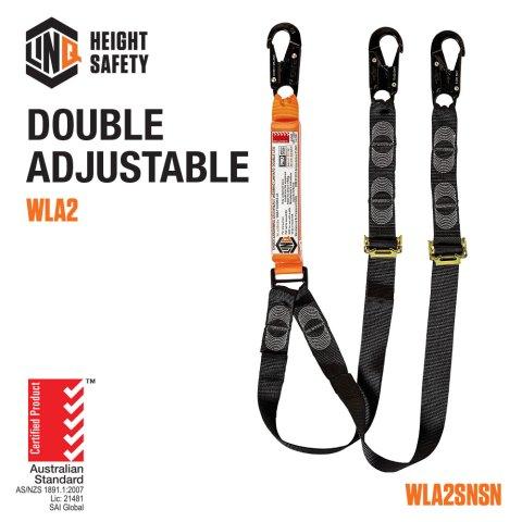 Double Leg Adjustable Lanyard Code WLA2SNSN