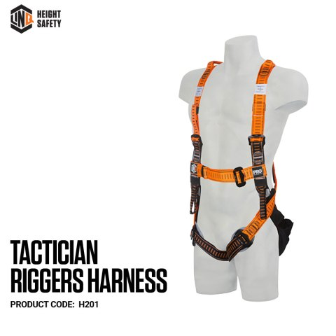 H201 LINQ Tactician RIgger Harness on Dummy SIDE