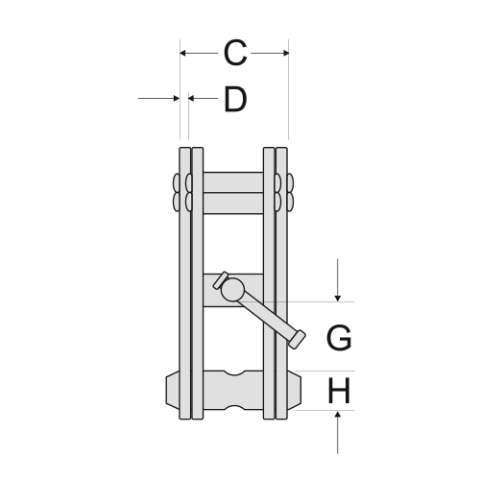 Girder Clamp Spec Drawing End View