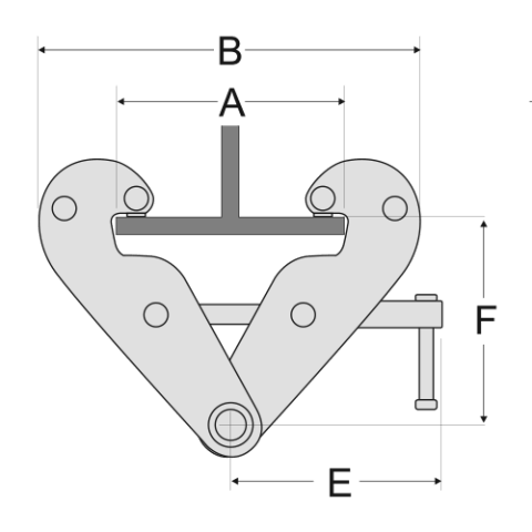 Girder Clamp Spec Drawing Side