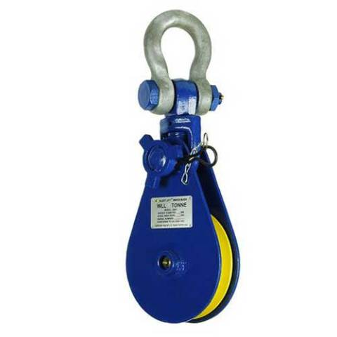 Snatch block with shackle head