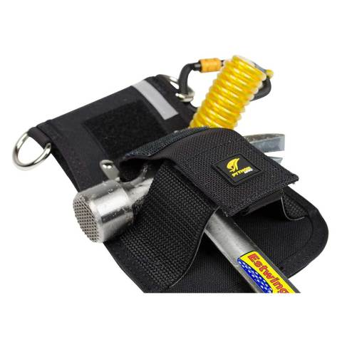 Hammer Holster - Belt with Hook2Quick Ring Coil Tether with Tail