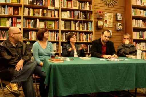 Allen Zadoff, L.K. Madigan, Sara Zarr, me, Andrew Smith