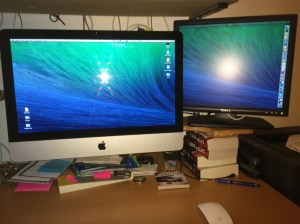My iMac and monitor set-up
