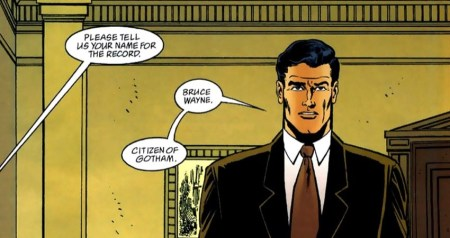 Bruce Wayne introduces himself
