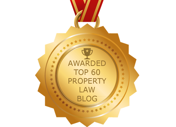 top 60 property law blog medal