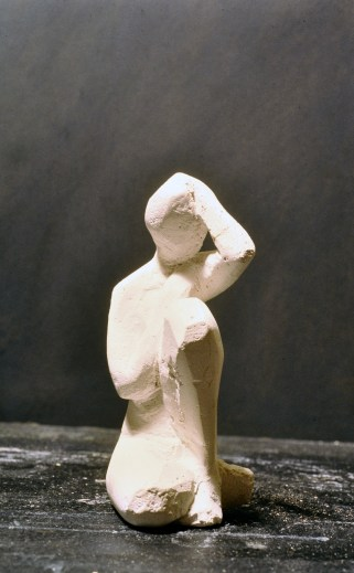 Crouching Figure, Plaster of Paris by Barry Trower (1986).