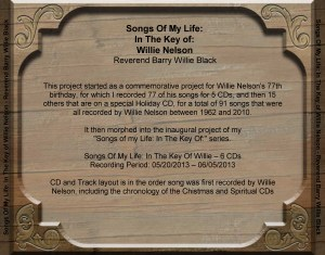 In The Key of Willie CD Back