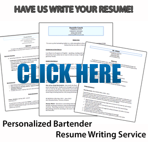 bartending resume writing service