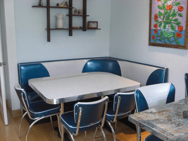 Booth Seating Island City Retro Kitchen Home