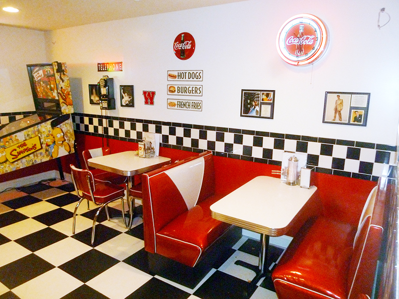 TCB Retro Diner Booth and matching 921-V chairs