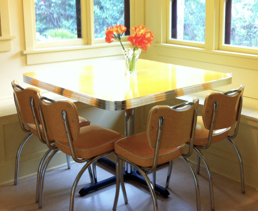 Dinette Set Yellow Cracked Ice