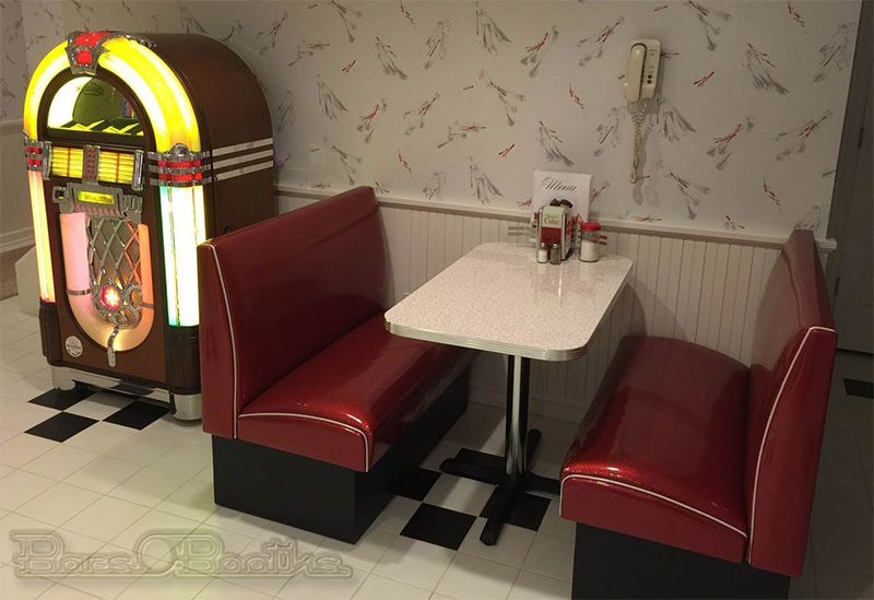 Bel Air Diner Booth, or BarsandBooths Soda Fountain Diner Booth Set