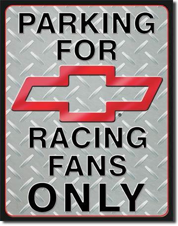 Chevy Racing Parking Tin Sign