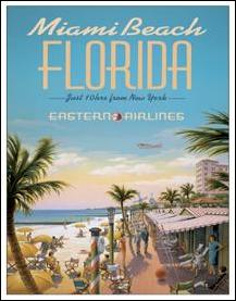 Erickson - Miami Beach Tin Sign
